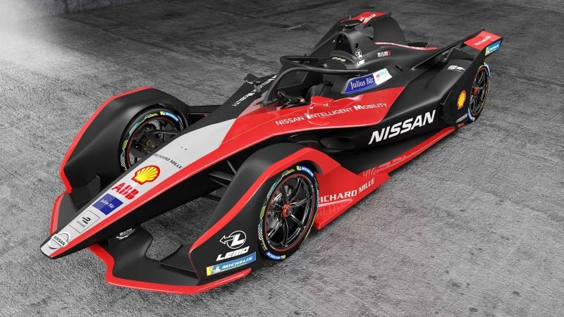 Nissan's Formula E Car front angled view