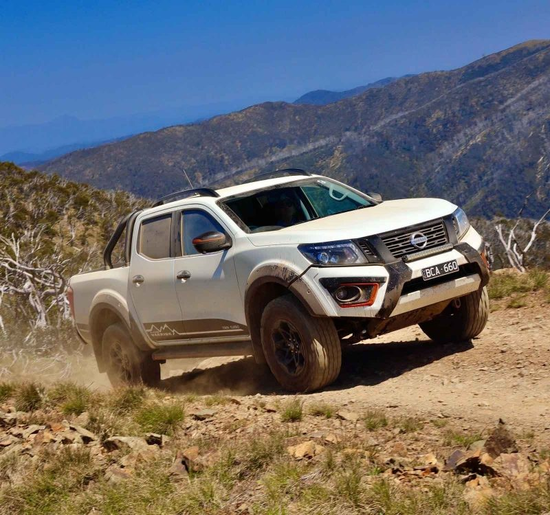 Nissan warrior n-trek moving uphill