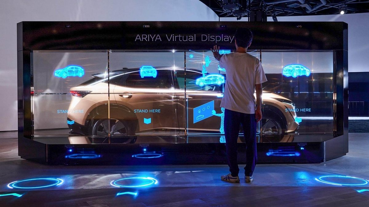 Nissan pavilion Ariya virtual display