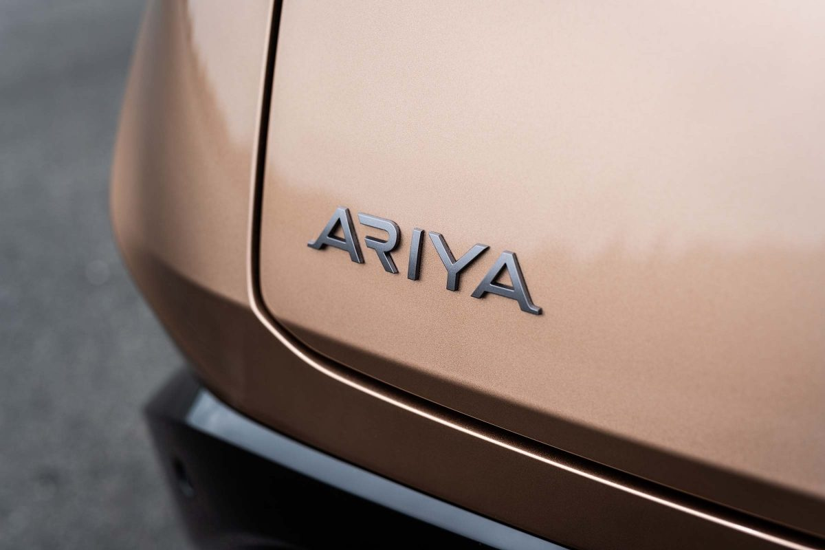 Nissan Ariya badge close-up