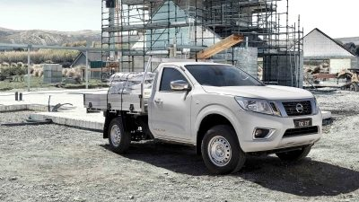 Navara at construction site