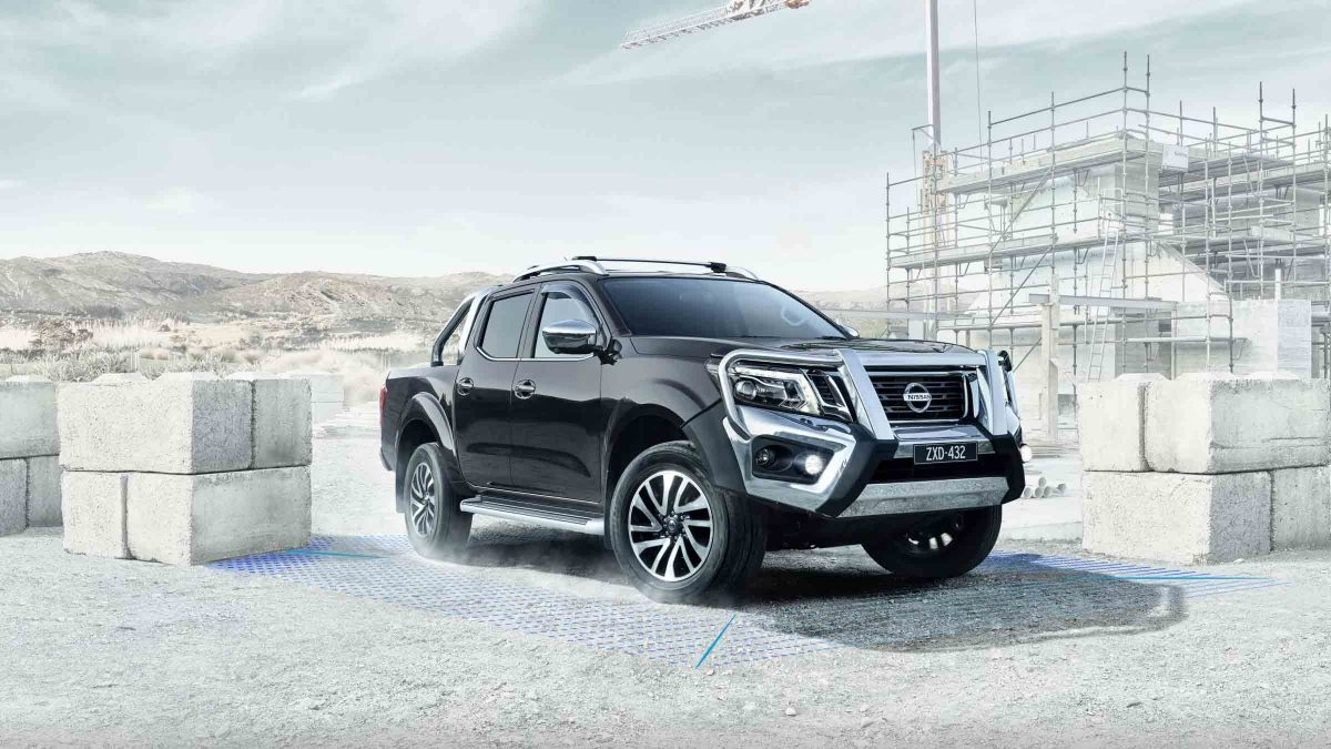 Nissan Navara at construction site