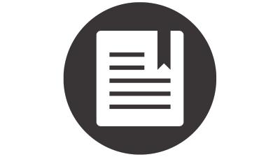 Bookmarked paper icon