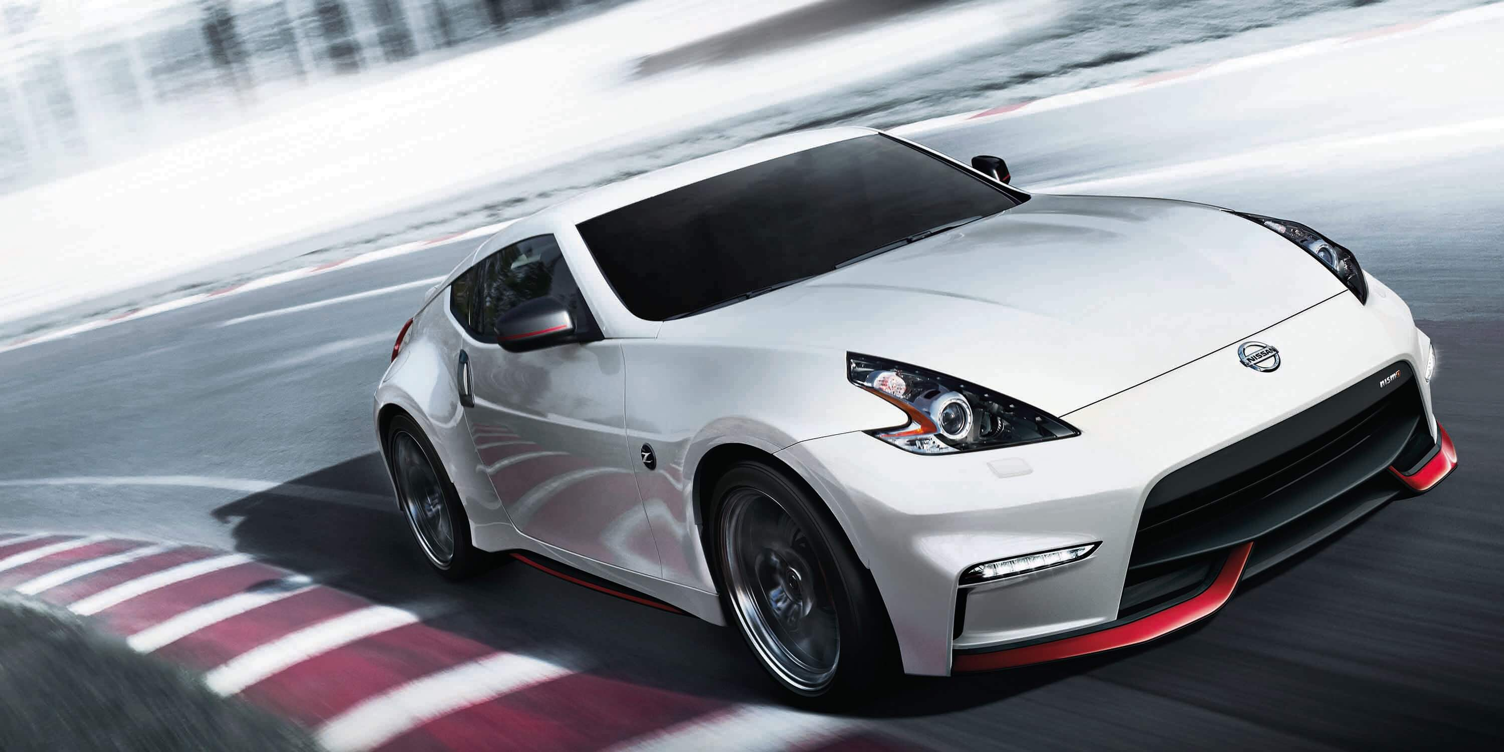 NISMO 370z racing on racetrack
