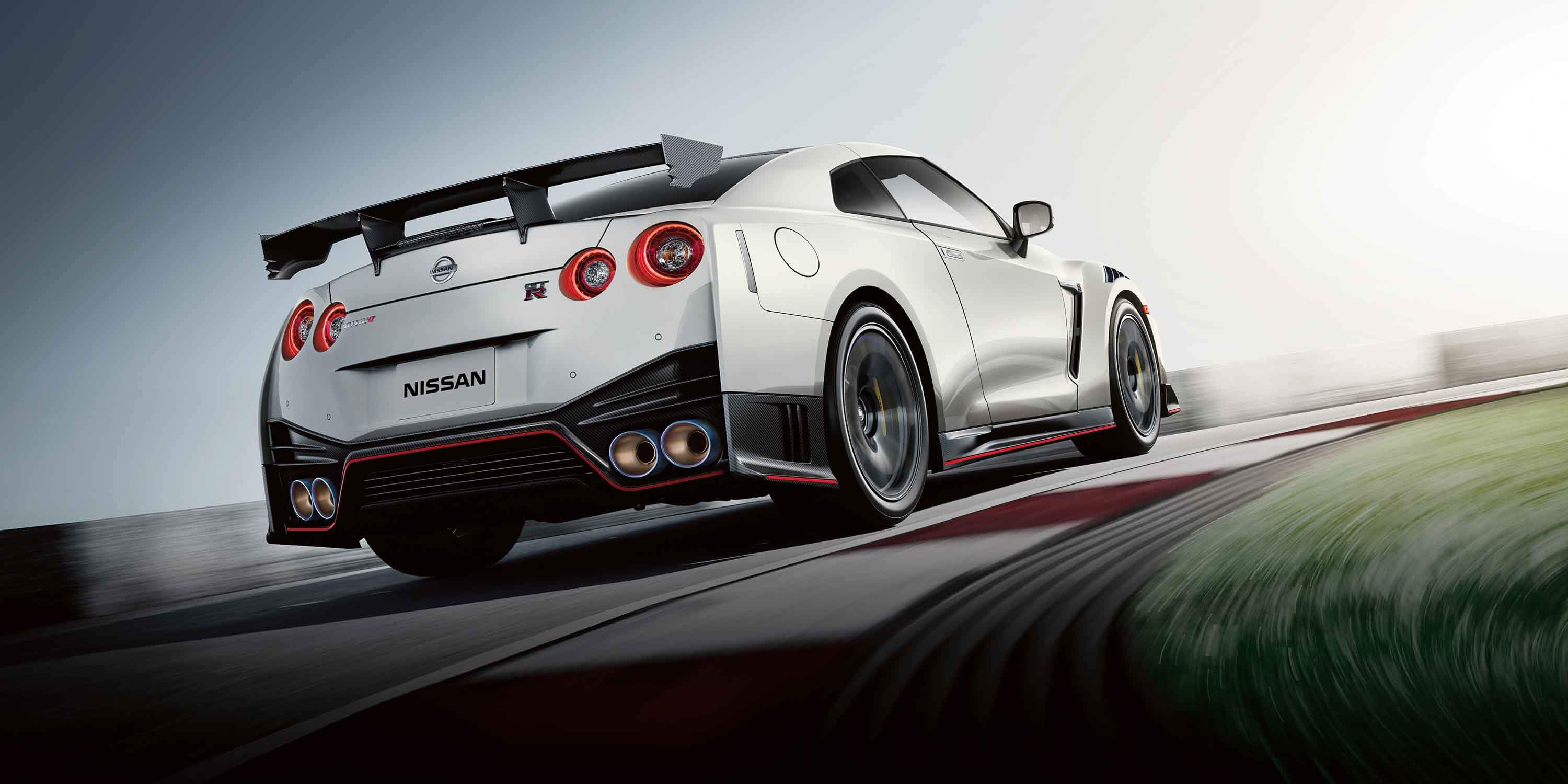 Nissan NISMO GT-R driving down racetrack