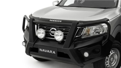 Steel bullbar fitted on Navara