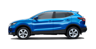 Vivid Blue QASHQAI Automatic ST+ side profile