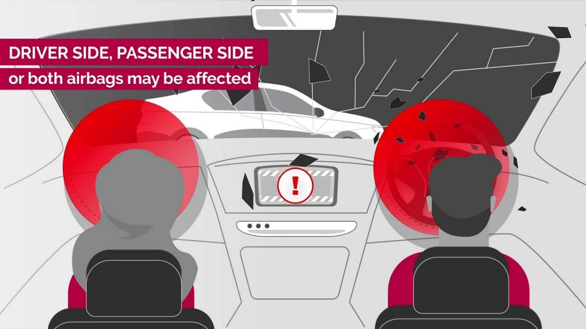 Takata Airbag Recall - 'Driver side, passenger side, or both airbags may be affected'