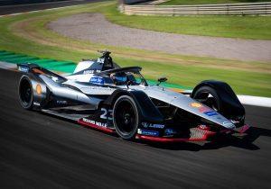 Nissan Formula E racer on track