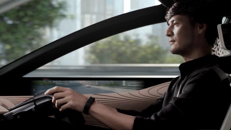 Driver in the Nissan IMx KURO
