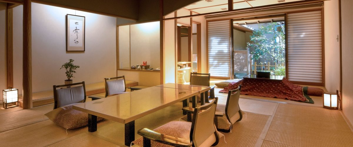 Ryokan interior with table and chairs