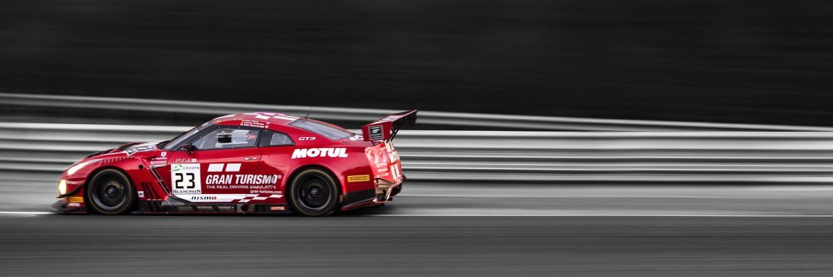 Nissan GTR NISMO driving on track