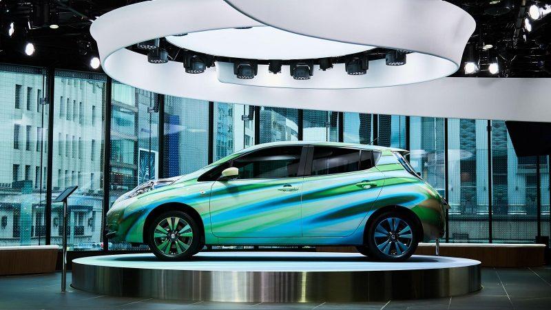 Nissan Crossing cylinder top exhibit space