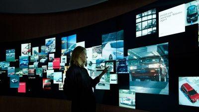 Nissan Crossing interactive wall display