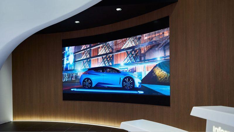 Nissan Crossing theater screen