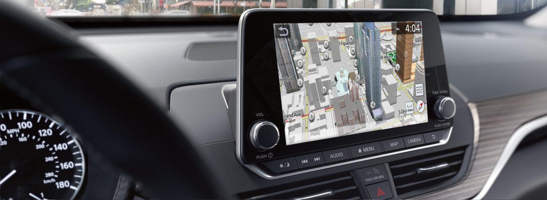 Nissan navigation display
