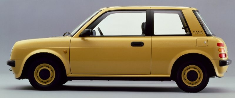 Exterior view of the Nissan Pao 3 door hatchback Pike car