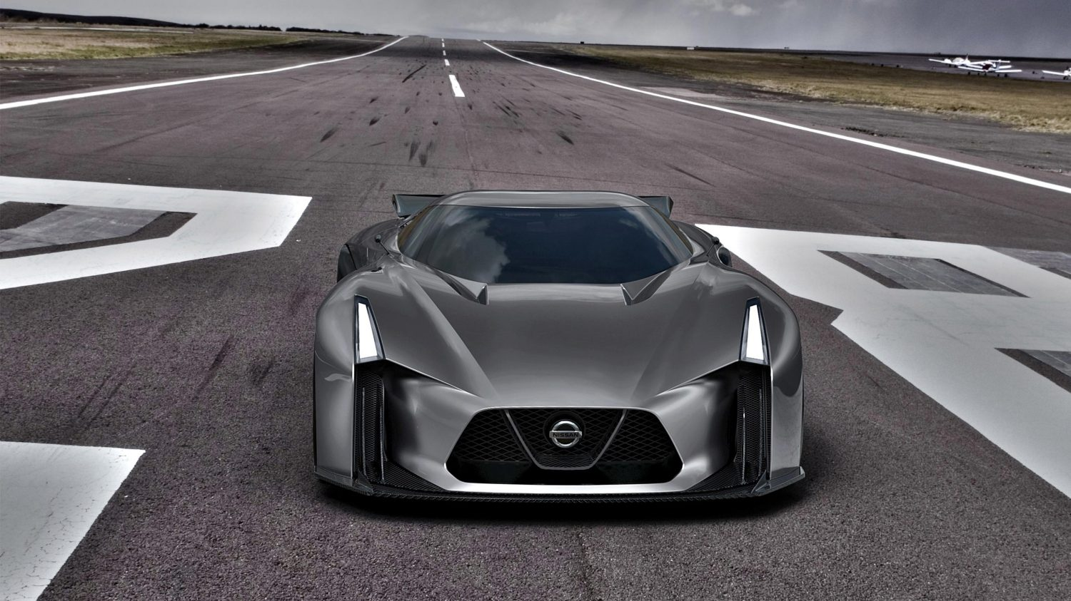 Nissan Concept 2020 Vision Gran Turismo high front on airstrip