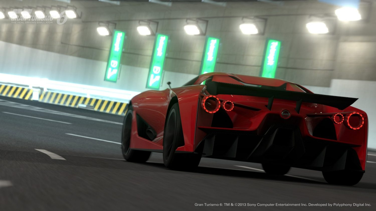 Nissan Concept 2020 Vision Gran Turismo low rear in tunnel
