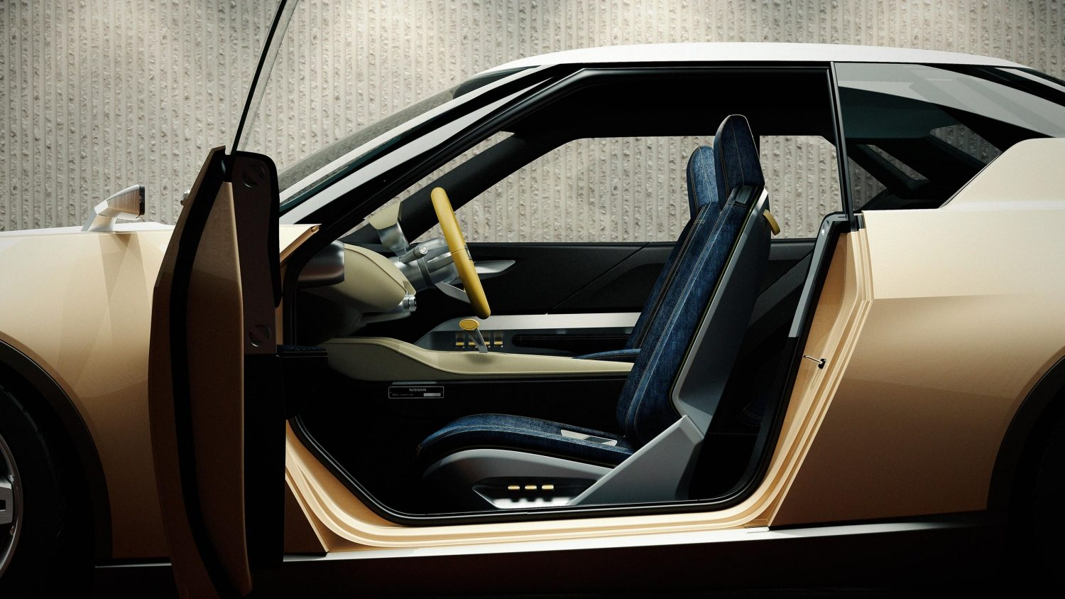 Nissan IDX Freeflow Concept. Gallery profile passenger-side open door.