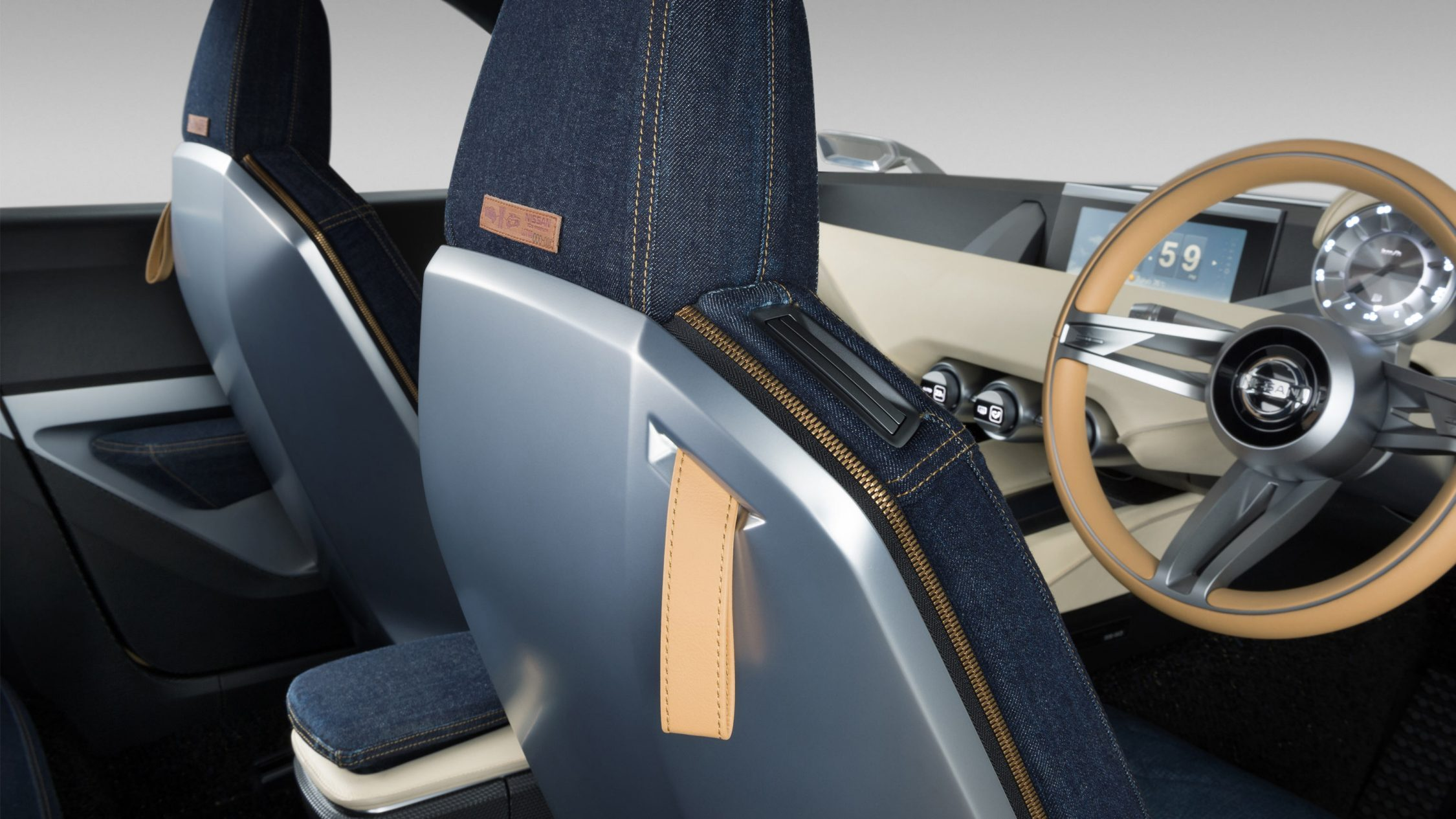 Nissan IDX Freeflow Concept. Gallery seatback detail.
