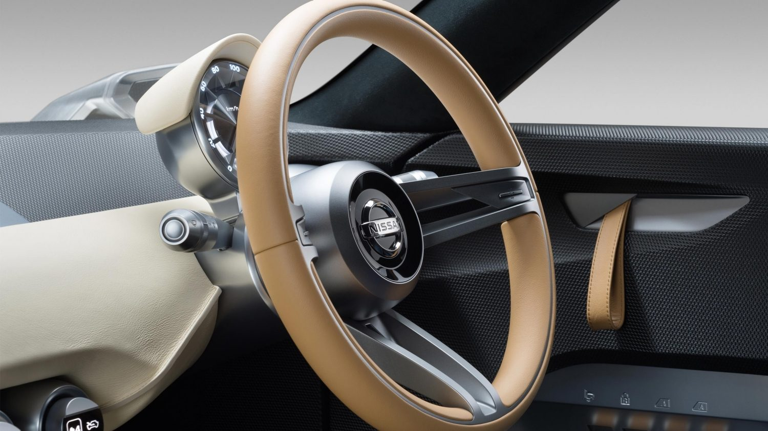 Nissan IDX Freeflow Concept. Gallery steering wheel.