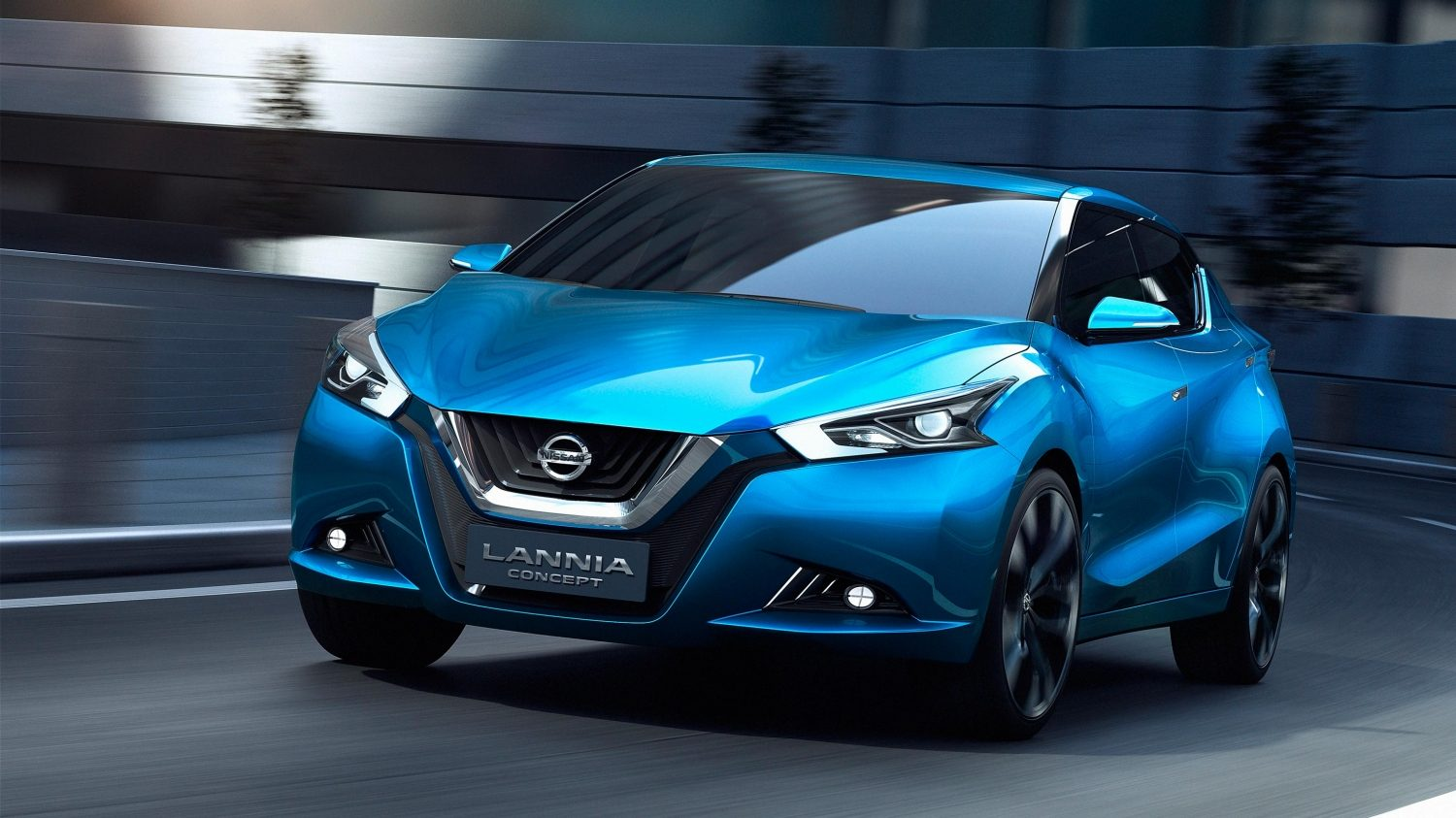 Nissan Lannia Concept. Gallery front action.