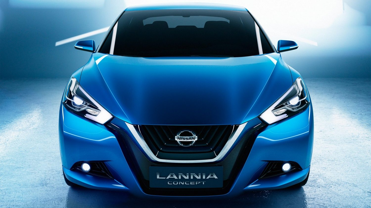 Nissan Lannia Concept. Gallery straight front studio.