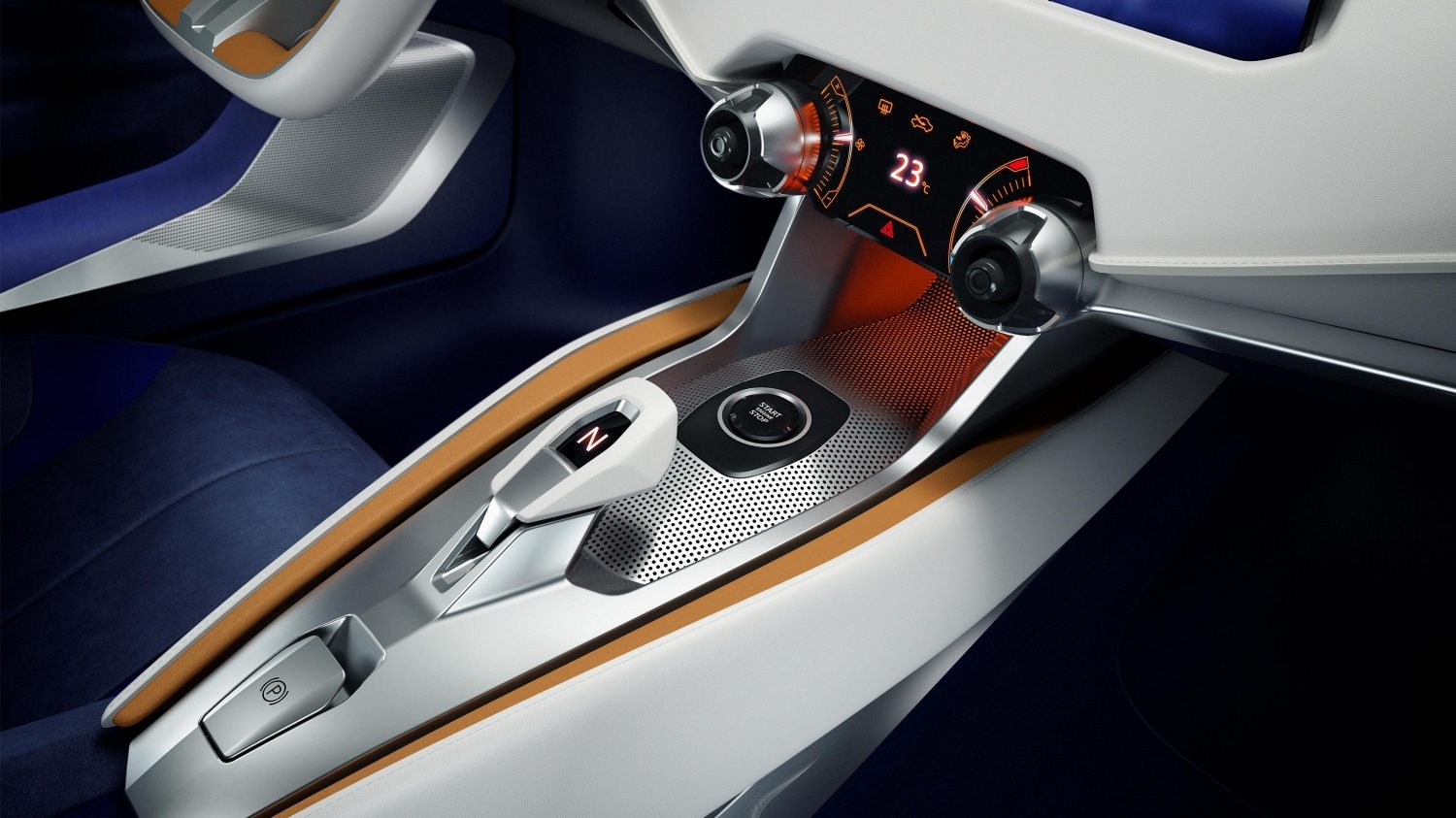 Nissan Sway Concept shifter/center console.