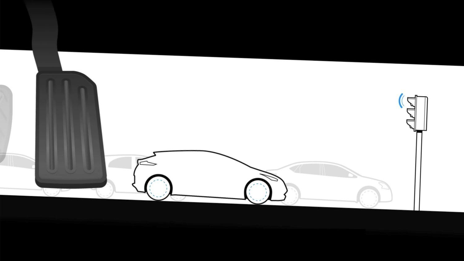 New Nissan Leaf e-Pedal technology illustrated