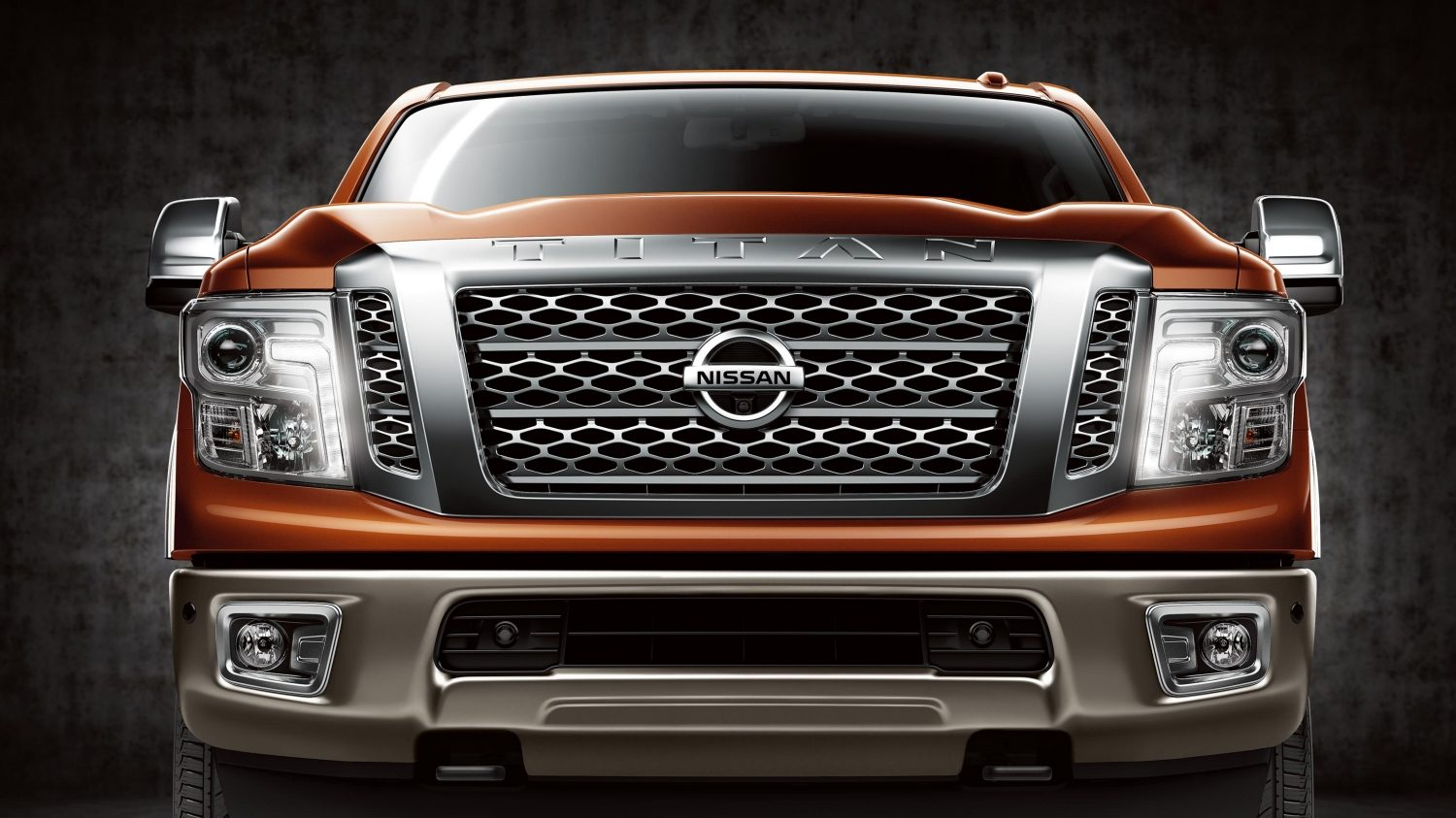 All- new Nissan Titan straight front.