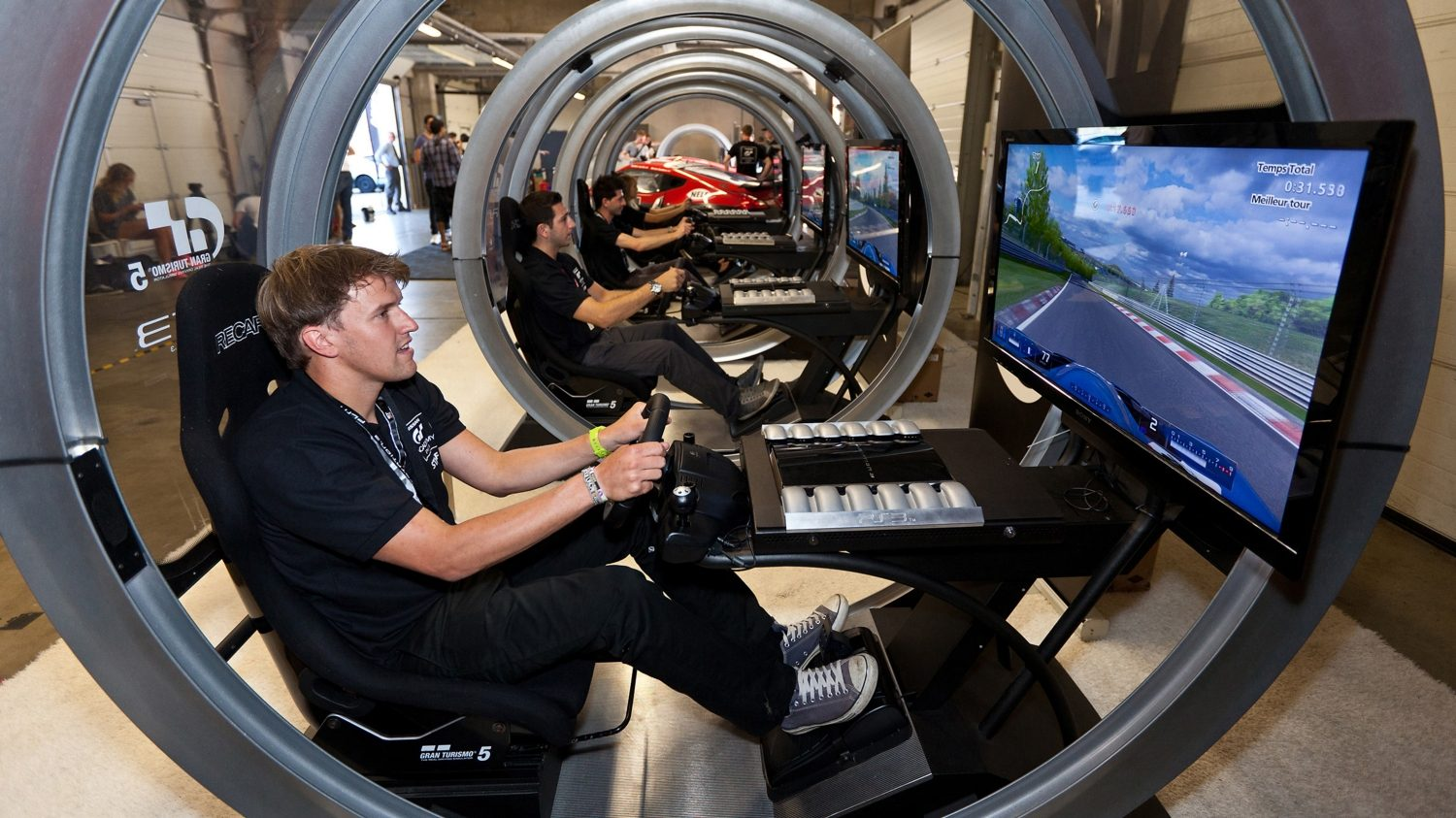 GT Academy gallery. Driver in simulator.