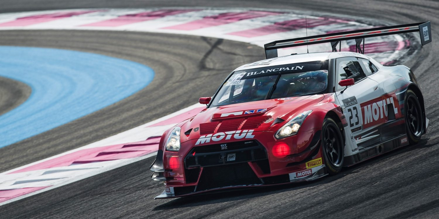 NISMO race car on track