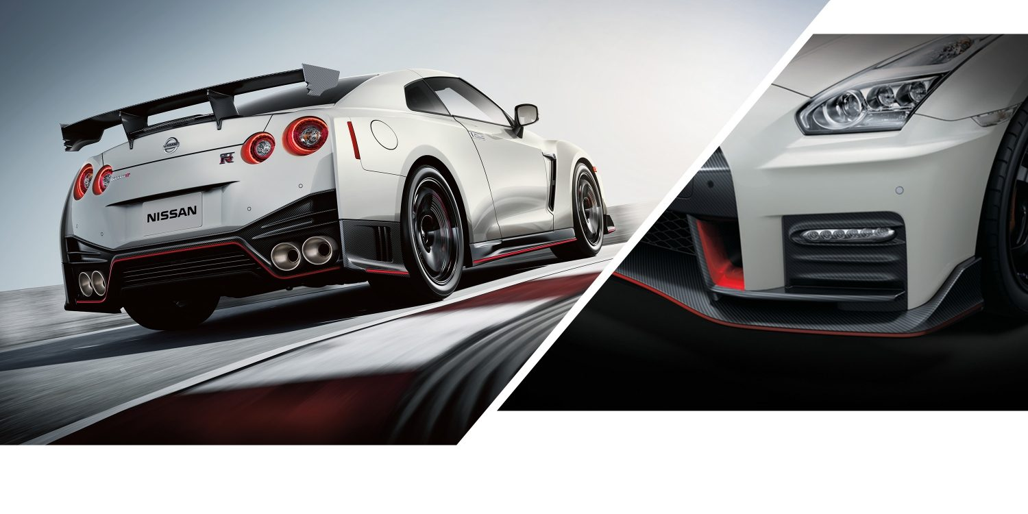 GT-R NISMO and crop of front headlight