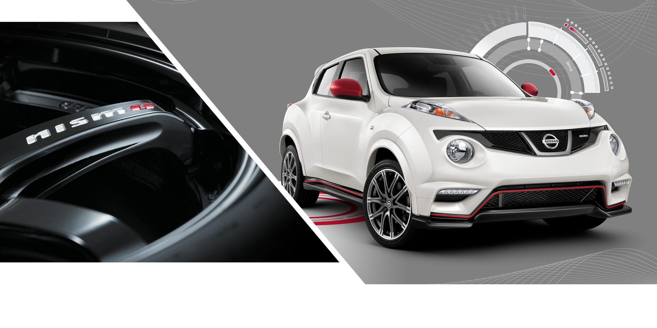 Black NISMO alloy Wheel and Juke NISMO RS