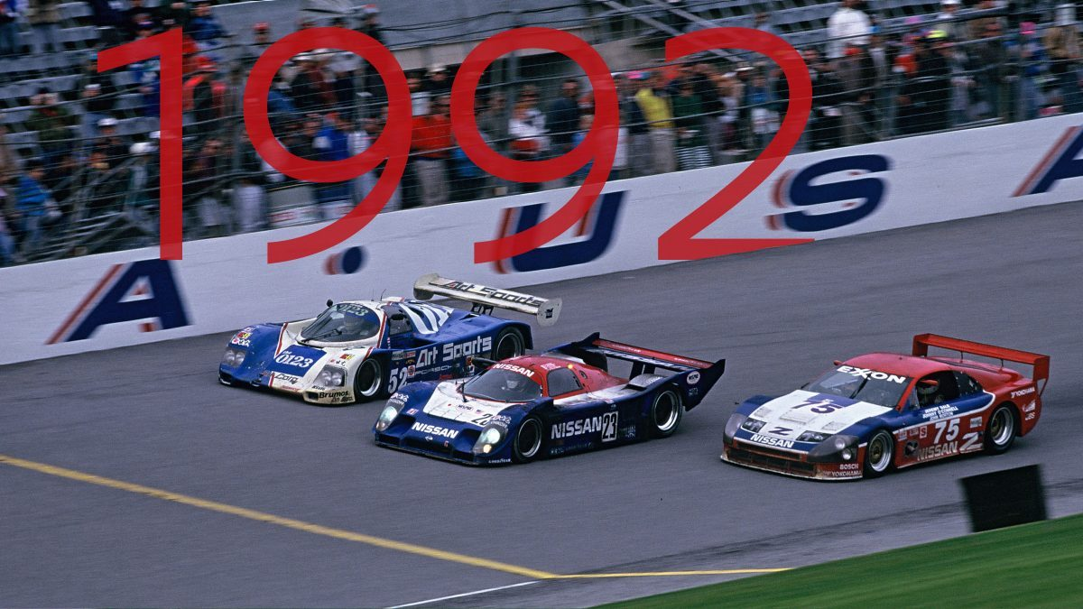 Nissan R91CP wins 1992 24 Hours of Daytona
