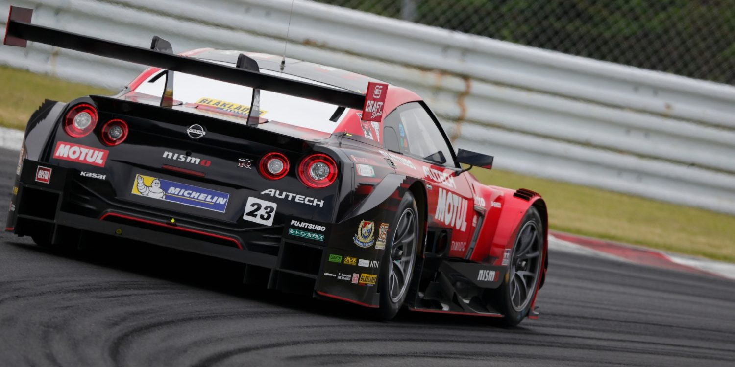 Nissan GT-R NISMO GT3 rearview on racetrack