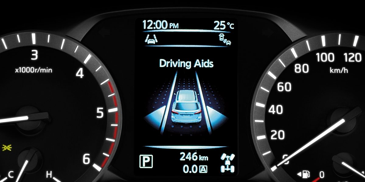 Nissan Terra Advanced Drive Assist Display showing driving aids