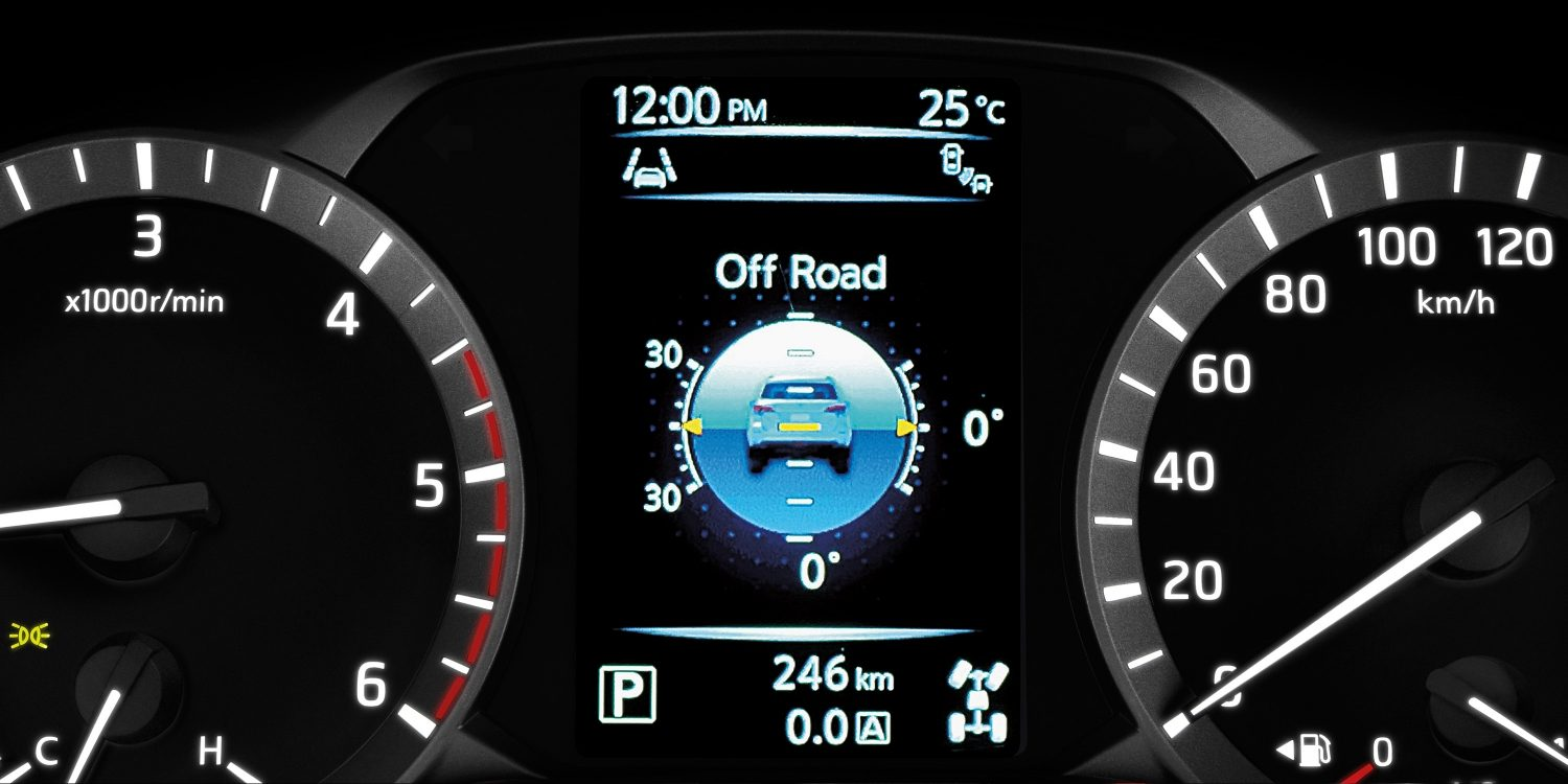 Nissan Terra Advanced Drive Assist Display showing off road info