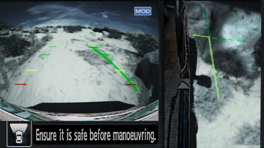 Nissan Terra Intelligent Around View Monitor screen