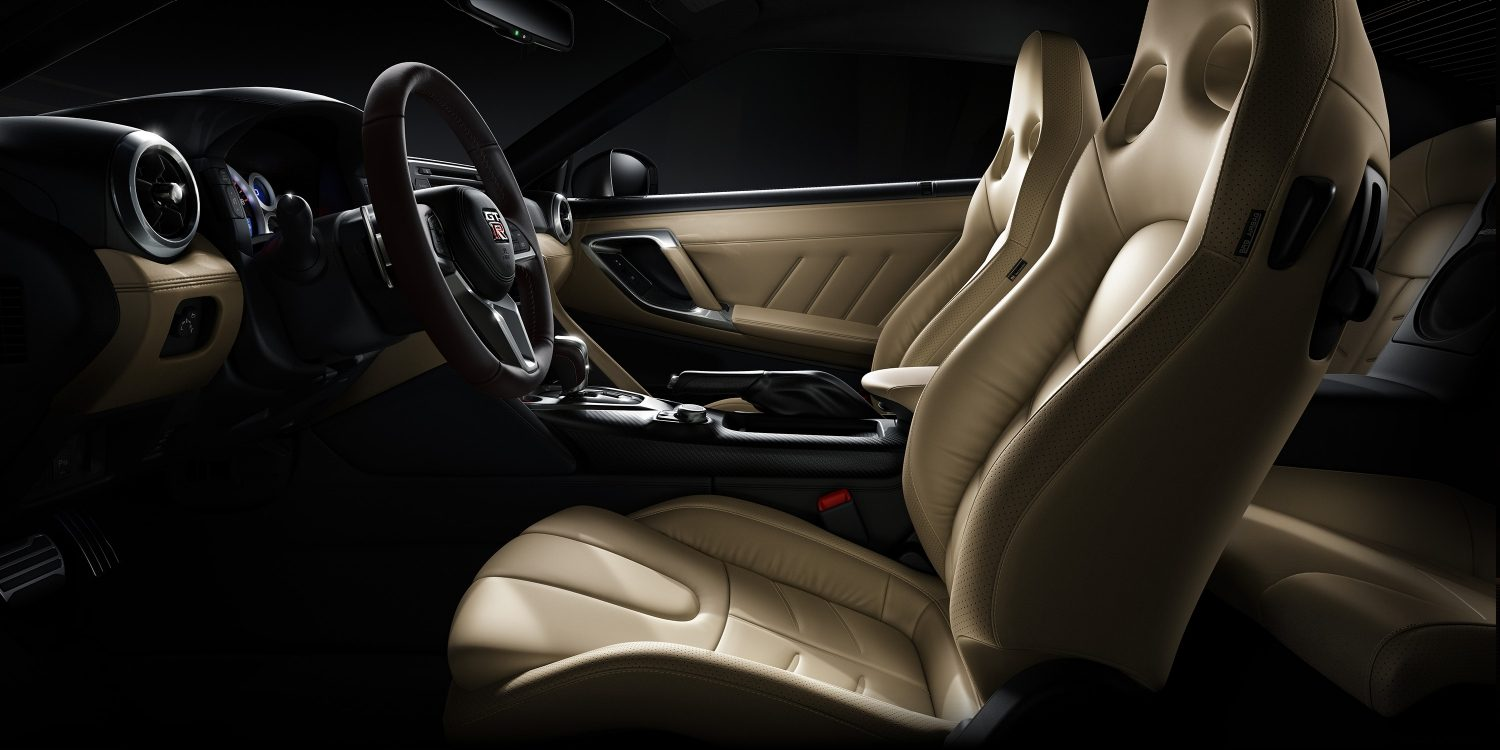 Nissan GT-R redesigned seats