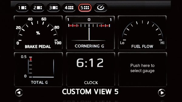 Nissan GT-R Multifunction Displays Chassis Dynamics.