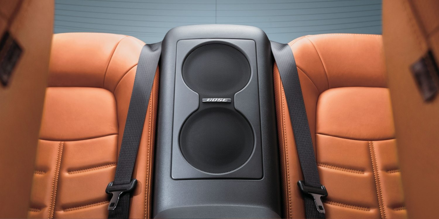 Nissan GT-R rear seat with integrated Bose speakers