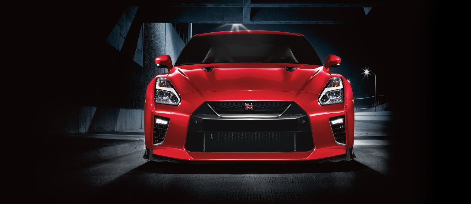 Nissan GT-R shown in Solid Red.
