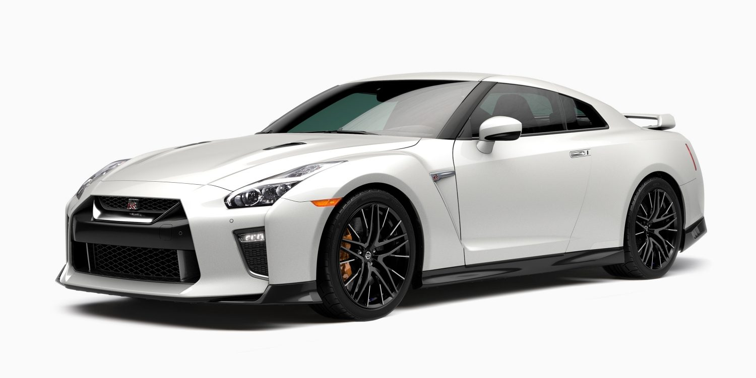 Nissan GT-R 3/4 front on white