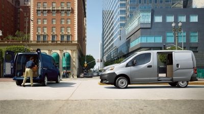 Nissan NV200 Van side and rear cargo loading