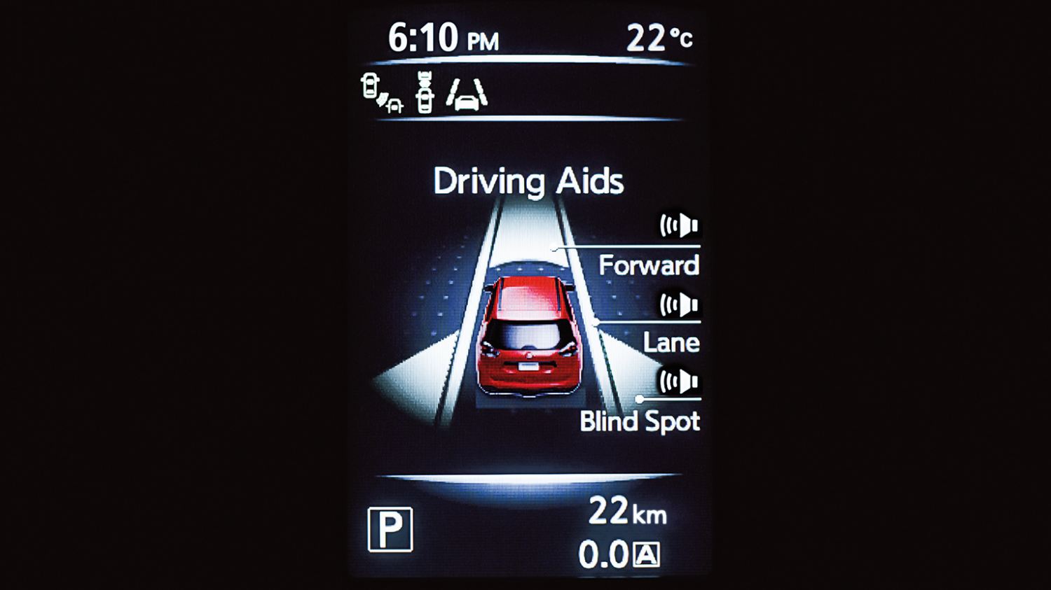 Driving aid display