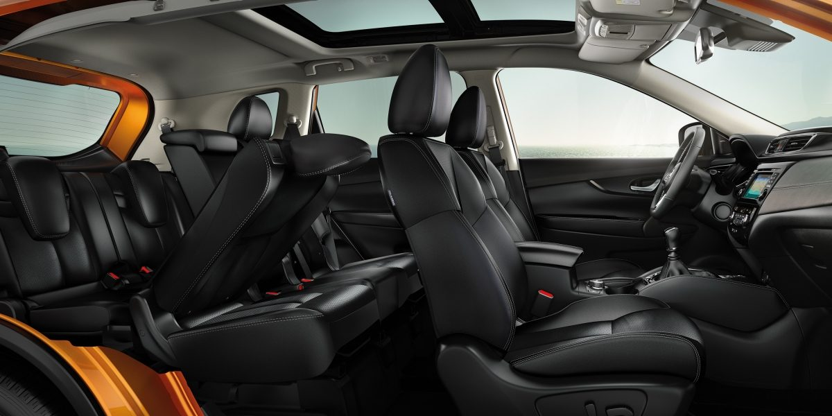 X-Trail EZ flex seating interior profile view