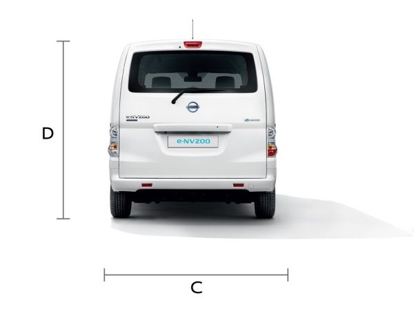 e-NV200 Dimension (Back View)