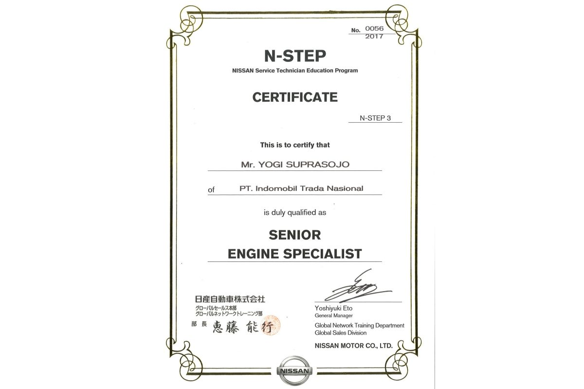 N-STEP 3 Senior Engine Specialist